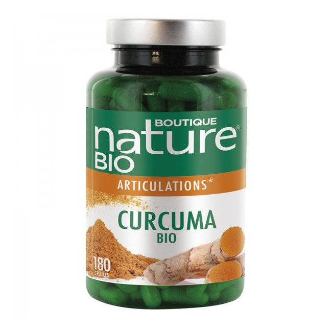 Boutique Nature Curcuma bio - Articulations - Format éco 180 gélules