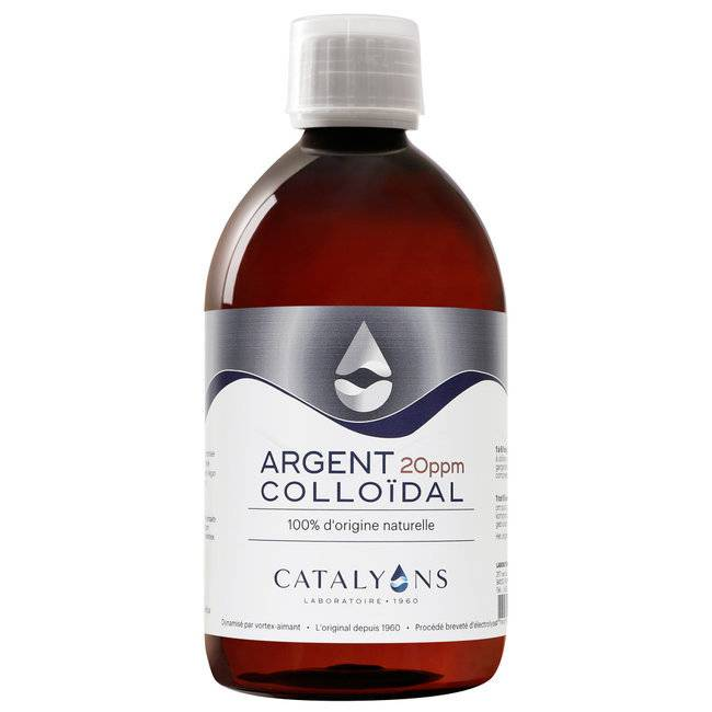 Catalyons Argent Colloïdal 20 ppm - Antibactérien - Flacon 500 ml