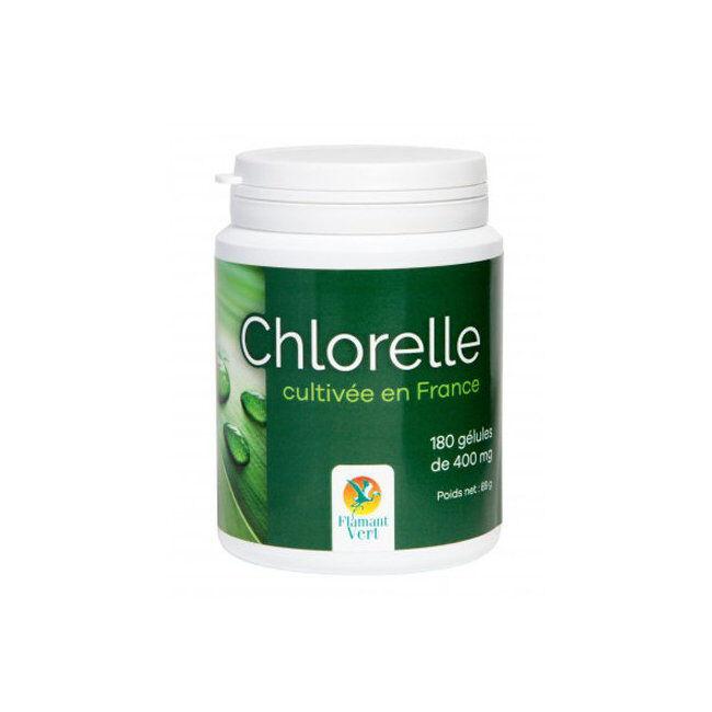 Flamant Vert Chlorelle 400mg cultivée en France - 180 gélules