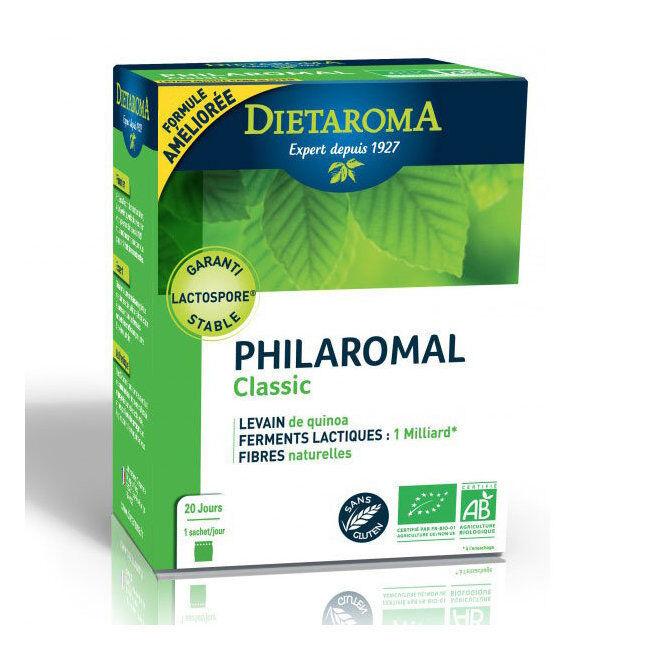 Dietaroma Philaromal Classic bio - Levain, Ferments lactiques et Fibres - 20 sachets