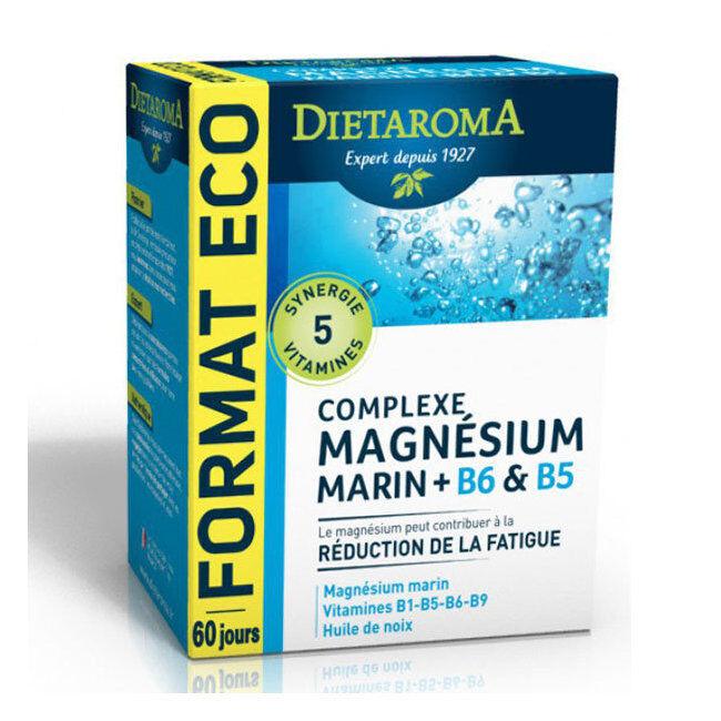 Dietaroma Complexe Magnésium Marin B6 B5 - Format éco 120 capsules