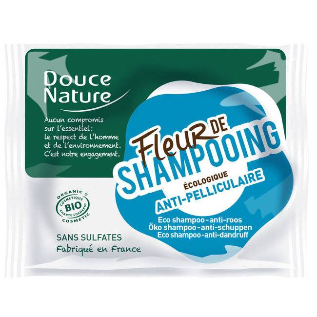 Douce Nature Fleur de shampoing Anti pelliculaire - Shampoing solide bio - 85g