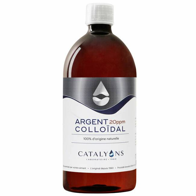 Catalyons Argent Colloïdal 20 ppm - Antibactérien - Flacon 1 L