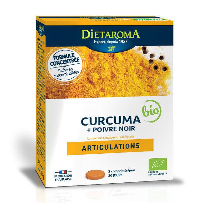 Dietaroma Curcuma et Poivre noir bio - Confort articulaire - 60 comprimés