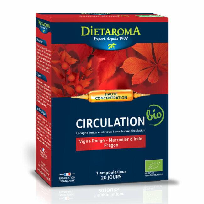 Dietaroma CIP Circulation bio - Vigne rouge, marronnier d'Inde - 20 ampoules