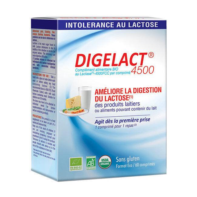 Alphanova Digelact 4500 bio - Intolérance au lactose - 60 comprimés
