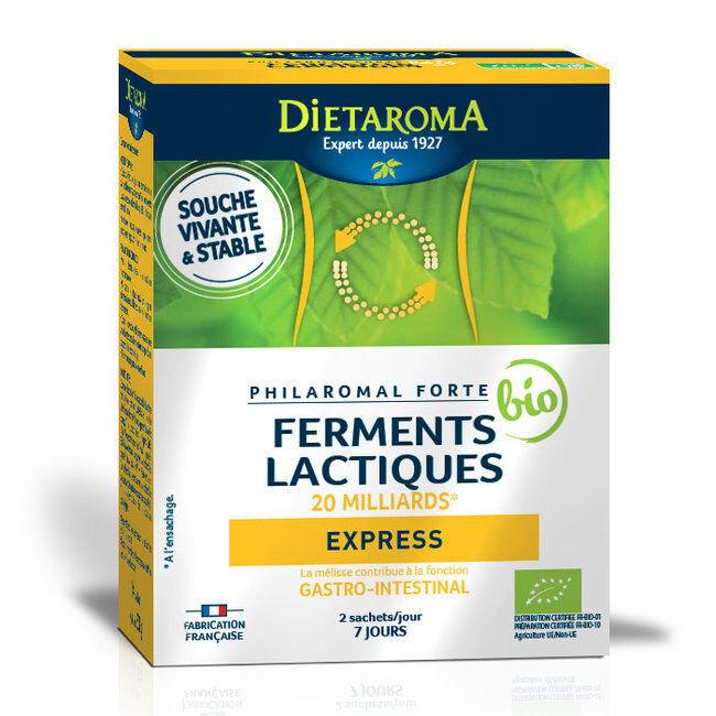 Dietaroma Philaromal Forté bio Express - Ferments lactiques 20 milliards - 14 sachets