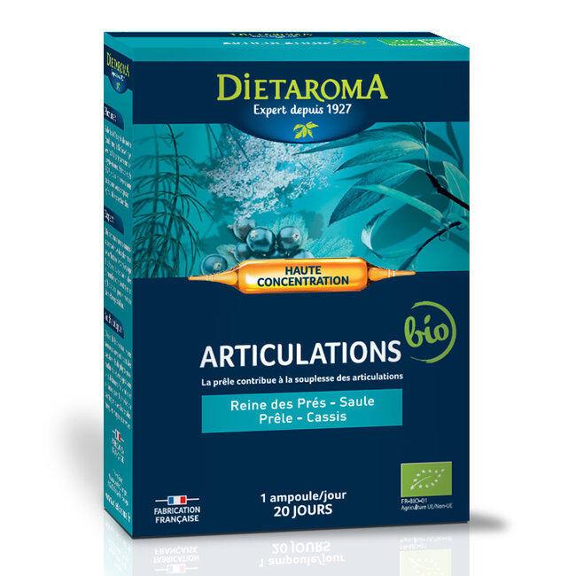 Dietaroma CIP Articulations bio - Reine des prés, Saule, Prêle - 20 ampoules