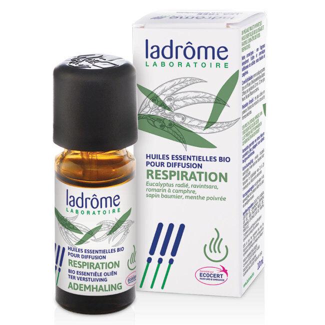 Ladrôme Respiration - Mélange huiles essentielles pour diffuseur bio 30ml