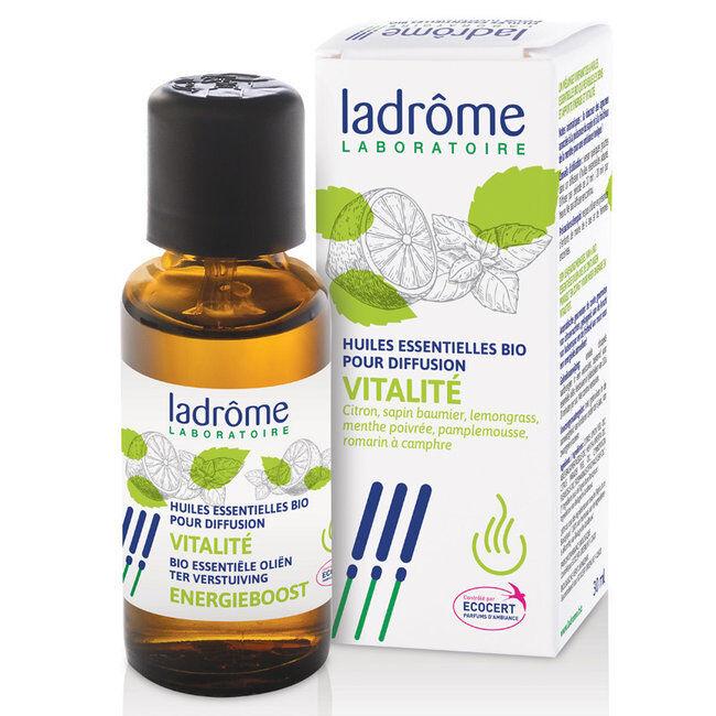 Ladrôme Vitalité - Mélange huiles essentielles pour diffuseur bio 30ml