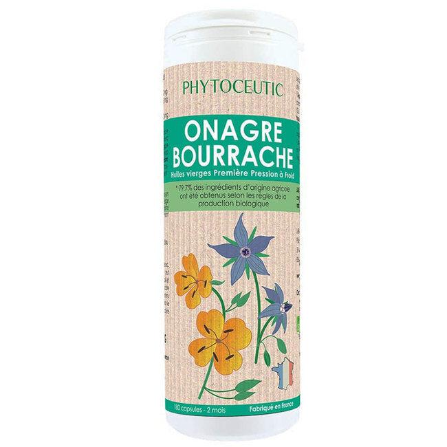 Phytoceutic Onagre et Bourrache bio pour la Beauté de la peau 180 capsules