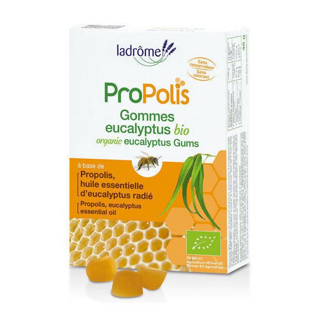 Ladrôme Gommes Bio à la Propolis et l'Eucalyptus 45g