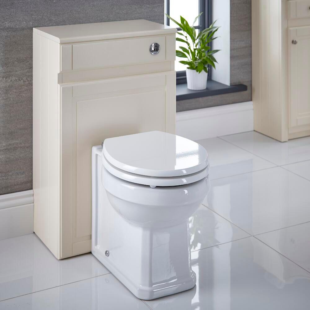 Hudson Reed Meuble Coffrage Ivoire pour WC à poser 81.5x50x30cm