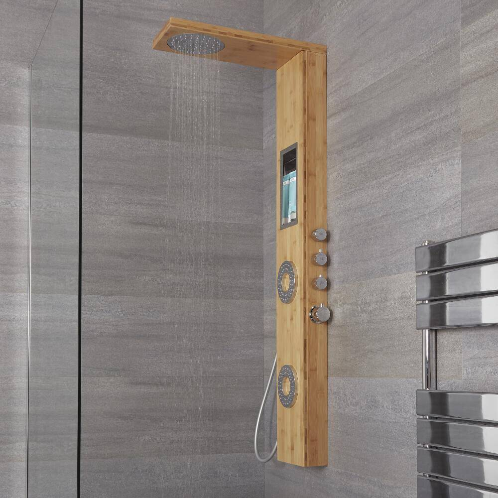 HudsonReed Colonne de douche Thermostatique Bambou Lako