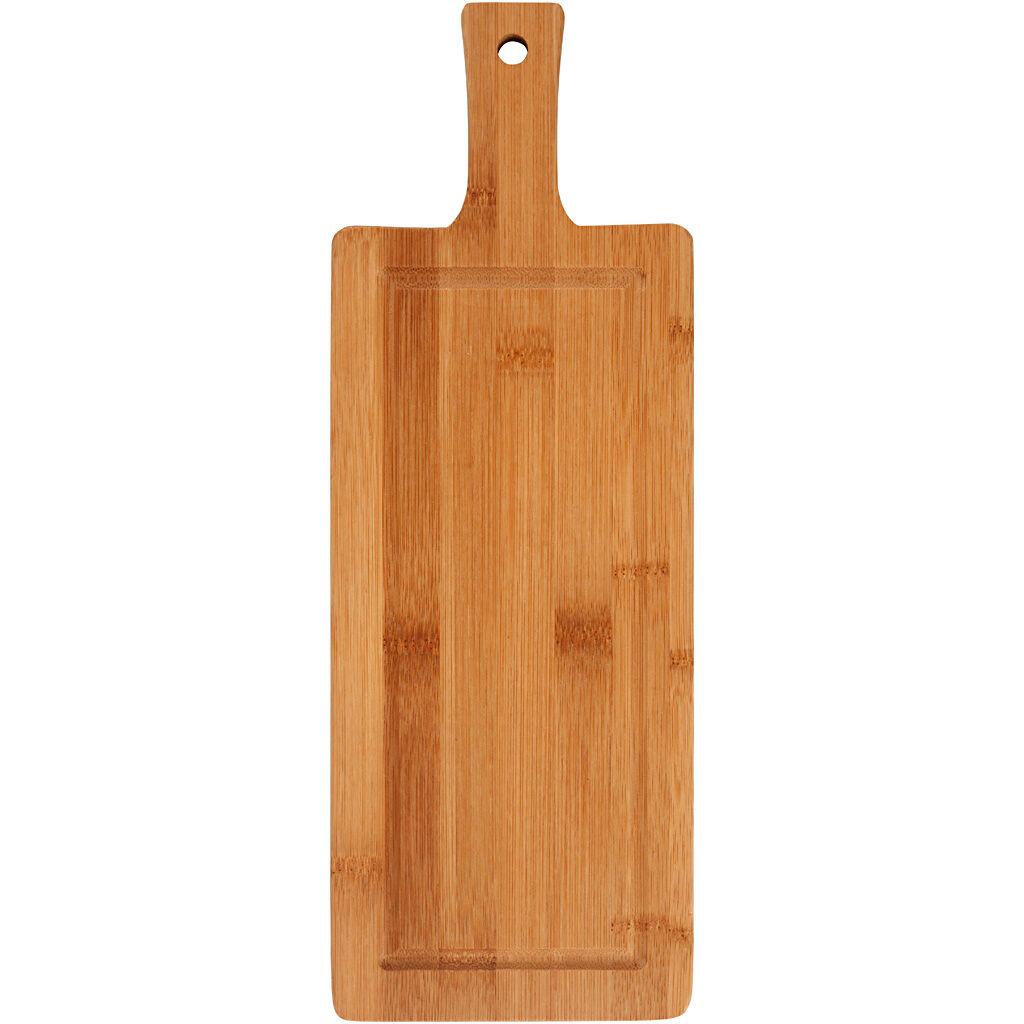 Packlinq Planche à découper, L: 39 cm, l: 14 cm, bambou, 1pièce, ép. 1,4 cm