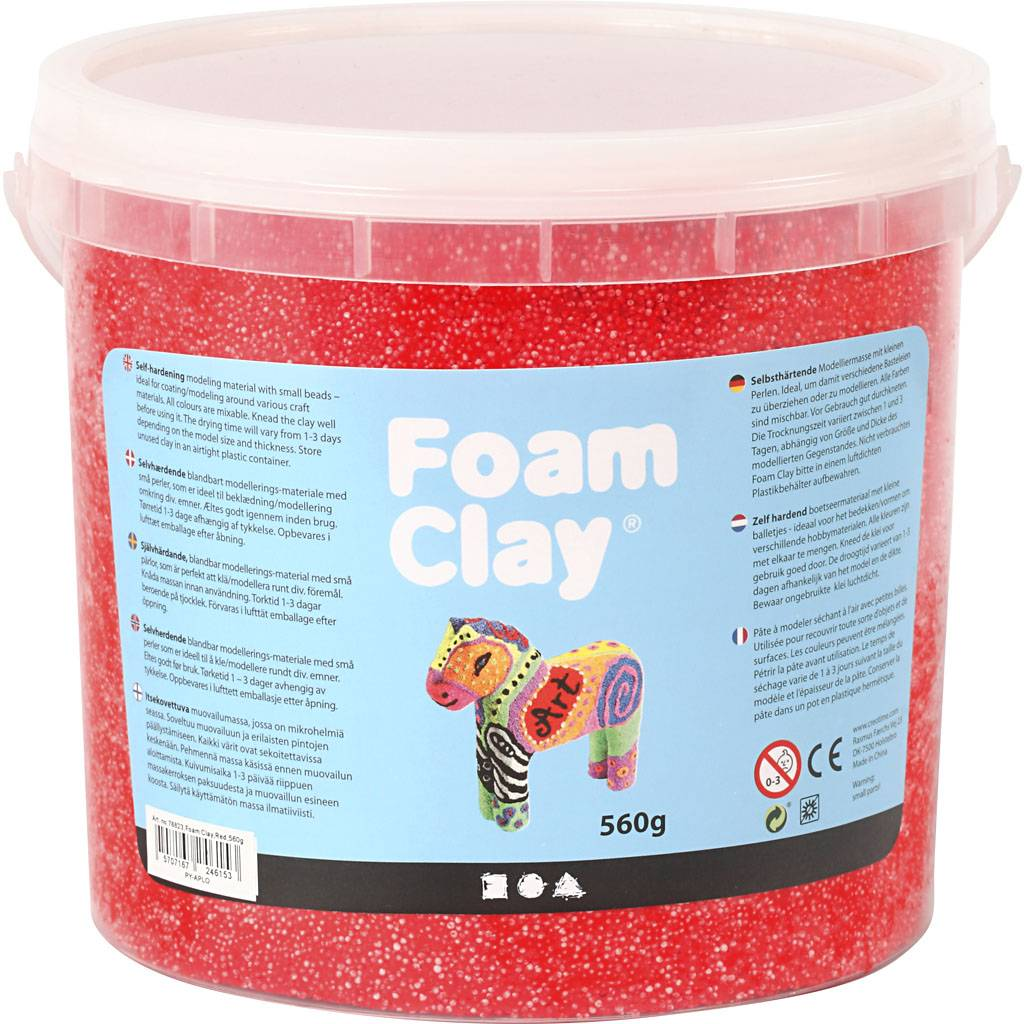 Packlinq Foam Clay®, rouge, 560gr
