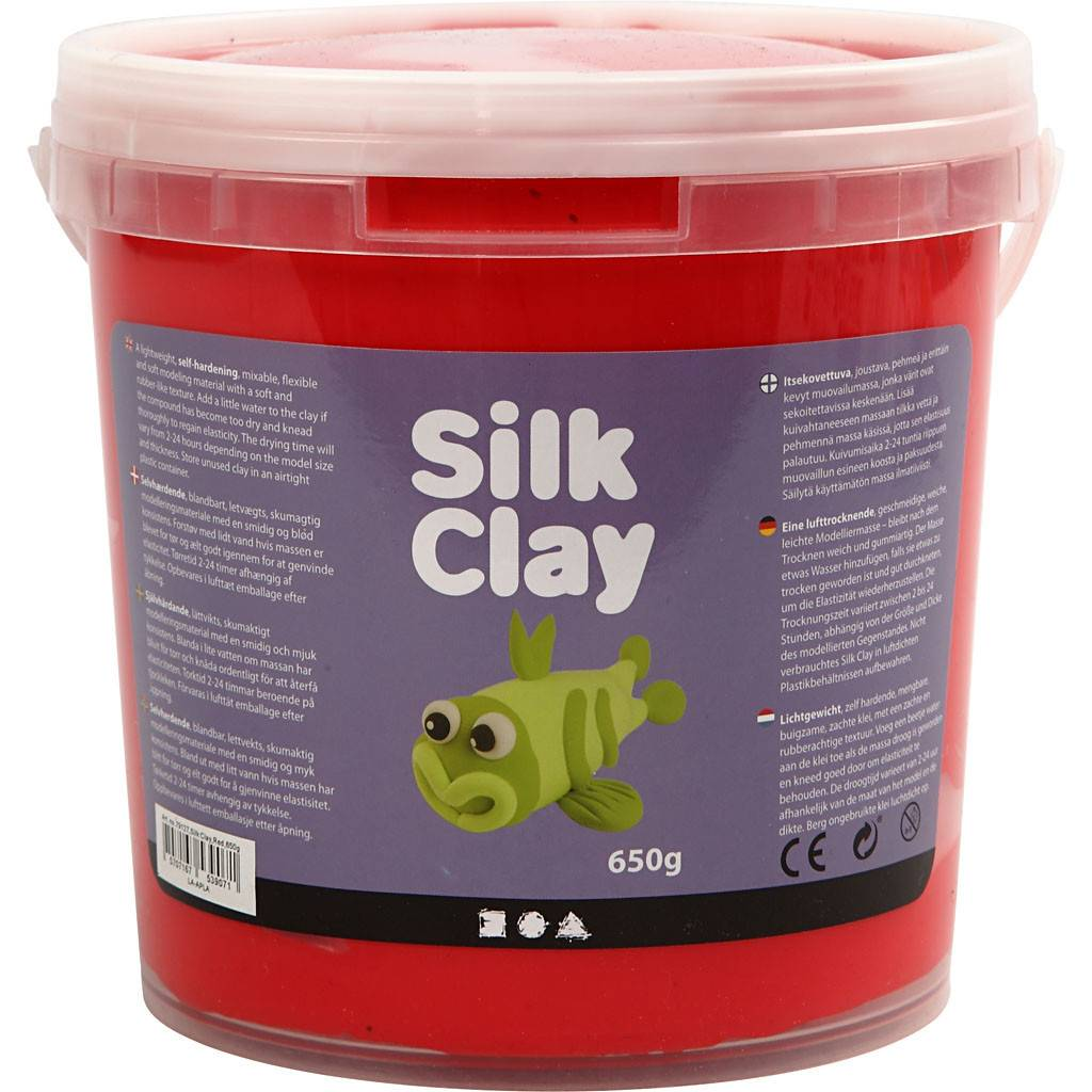 Packlinq Silk Clay®, rouge, 650gr