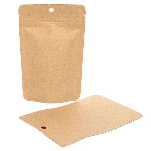 Packlinq Stand Up Pouches Kraft Compostable 10.2x6x15.2cm 57 grams