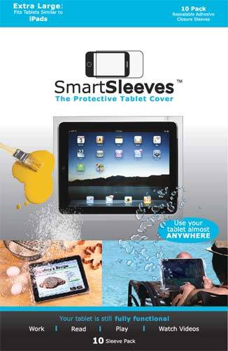 Packlinq PS710F Housse plastique protectrice pour tablette avec rabat et adhésif 19.7x26 cm
