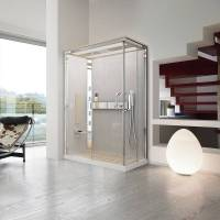 Novellini Nexis Whirlpool Box et Hammam Sauna 100x80 - 100x80 - Bois blanc - H 8 cm - Méla <br /><b>4921 EUR</b> aisilbagno.it/fr