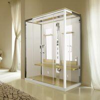 Novellini Nexis Dual A 170x90 avec hydromassage et sauna à vapeur à double emplacement - B <br /><b>8021 EUR</b> aisilbagno.it/fr