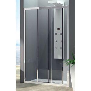 CSA Box Doccia Porte de douche Porte de douche coulissante 3 Portes Amelia F2S 110 - blanc - sa - Publicité