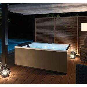 Novellini Minipool Divina Outdoor M SPA Standard avec Lumières Led Blanches 190x140 - Stee - Publicité