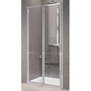 Novellini Livret de portes de douche rabattable gratuit 2P 75 - Niva - blanc - Sans joint - Publicité