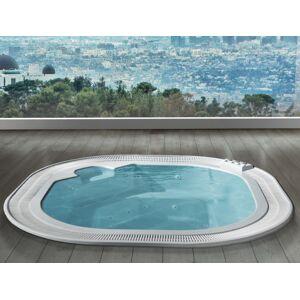 Busco 'Miami' Whirlpool Mini 304x304 - bleu - 304x304 - Avec chromothérapie - Avec air - Publicité
