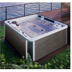 Grandform/Kinedo Mini piscine extérieure A600 228X228 hydromassage - rotin - Summer Saphir - Publicité