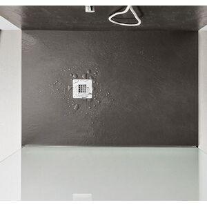 AGHA Receveur de douche effet pierre Stone 130X75 en 8 couleurs - Vert militaire
