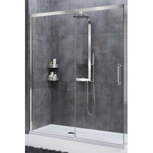Novellini Cabine de douche à porte coulissante Rose Rouge PH 175 - blanc - Sérigraphie Ros - Publicité