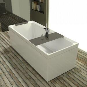 Novellini Bain à remous Whirlpool Divina - 180x80 - AVEC TAPS - Blanc brillant - Tourterel - Publicité