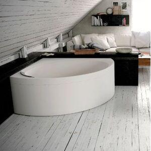 Novellini Divina Bath C 140x140 Sans Hydromassage - Blanc doux - Avec robinets de baignoir - Publicité