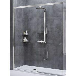 Novellini Cabine de douche à porte coulissante Rose Rouge PH 123 - argent - satin - gauche - Publicité