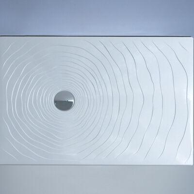 Flaminia Receveur de douche à gouttes d'eau Flaminia 100x80 H5.5 en céramique polie blanc