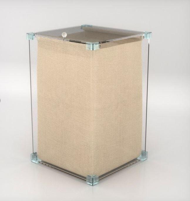 Petrozzi Panier à linge avec sac en 10 couleurs - Blanc - Sans roues