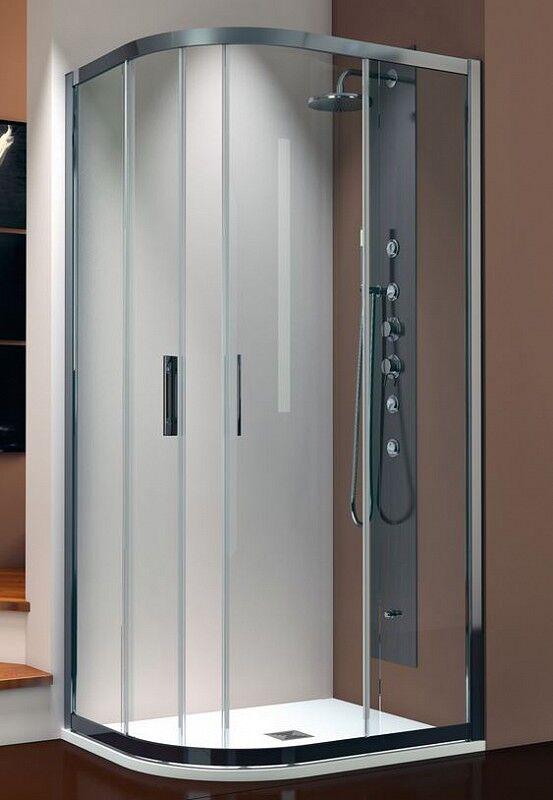 Thermodesign Cabine de Douche Perla PRL / SR Asymétrique Semi-circulaire 100x70 - satin - gau