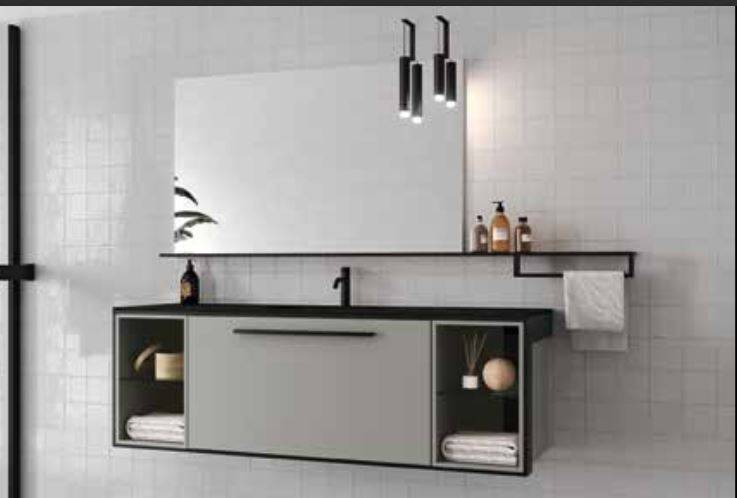Iotti Armoire de salle de bain Centrimetro cmn.006 Cm 152 - Bianco Opaco - Turchino L