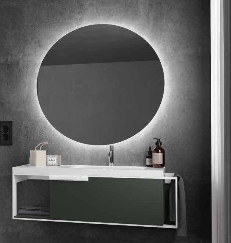Iotti Armoire de salle de bain Centrimetro cmn.007 Cm 120 - Bianco Opaco - Turchino L