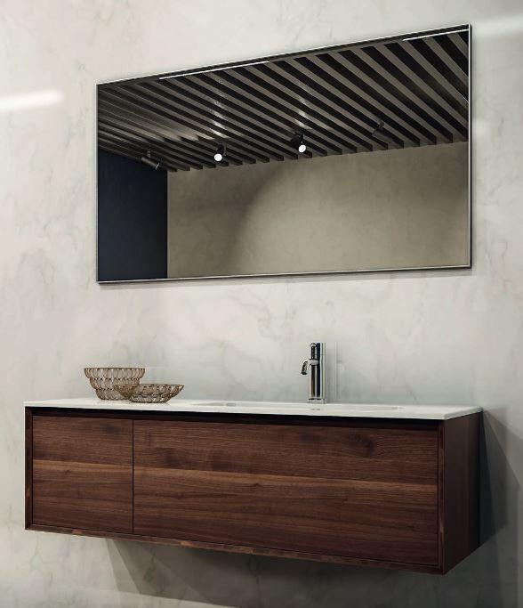 Mobilduenne Armoire de toilette 125 cm en bois massif - Noix Canaletto