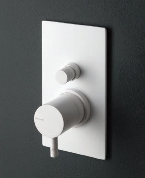 Ritmonio Mitigeur de douche encastré avec déviateur Diameter35 blanc ou noir - Noir