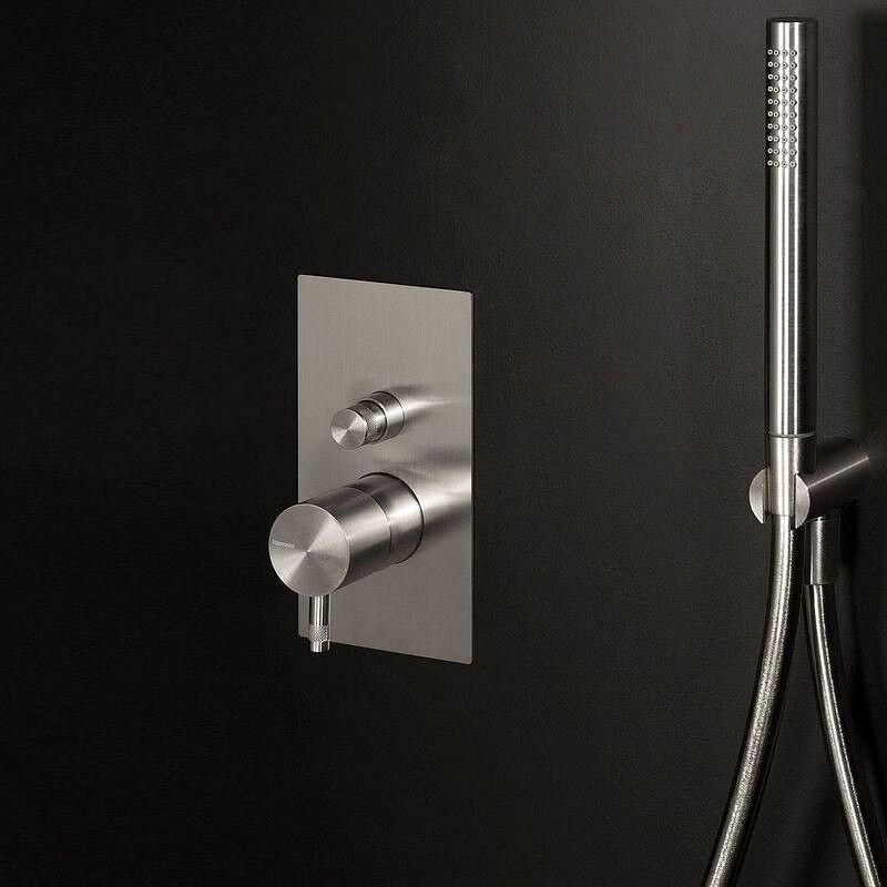 Ritmonio Mitigeur de douche encastré avec inverseur en acier inoxydable Diameter35