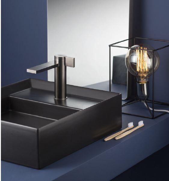 Ritmonio Mitigeur lavabo en acier inoxydable DOT316 - Inox Noir