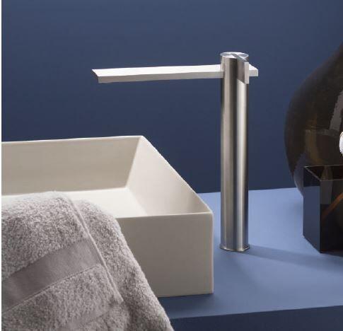 Ritmonio Mitigeur de lavabo avec extension DOT316 INOX - Champagne Inox