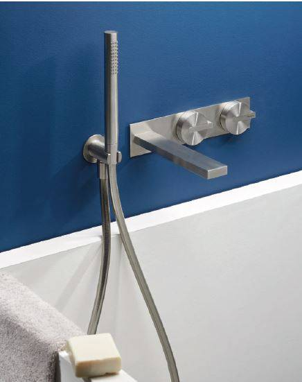 Ritmonio Concealed mixer for bath tub Z316 Inox Brushed - finition: Champagne Inox
