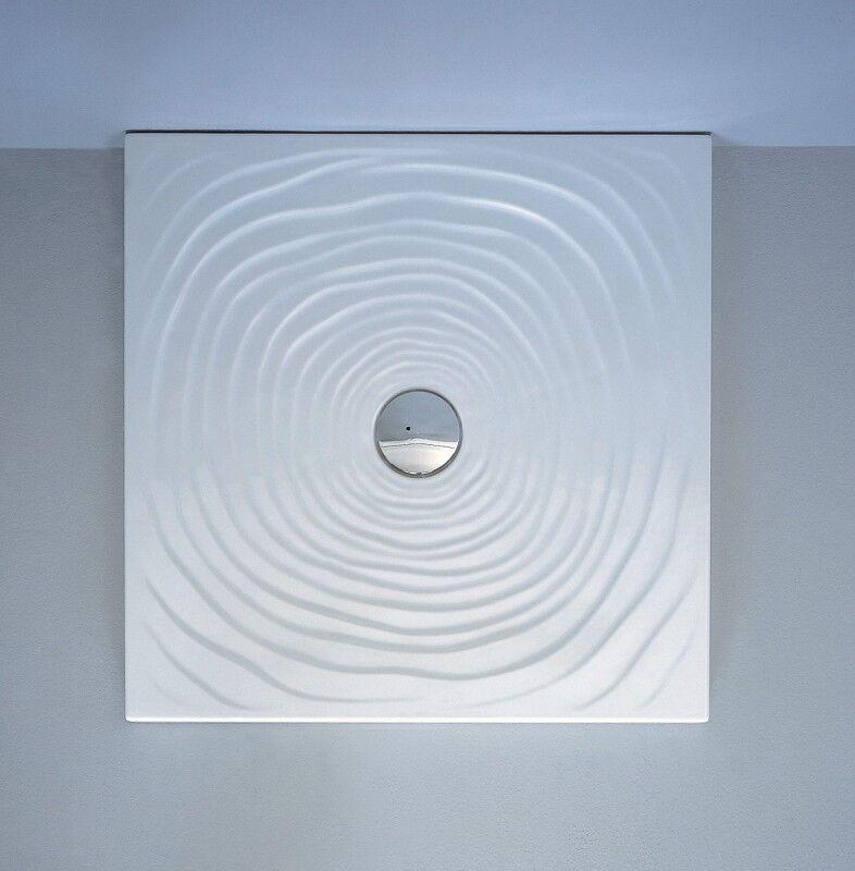 Flaminia Receveur de douche à gouttes d'eau Flaminia 80x80 H5.5 en céramique blanche poli