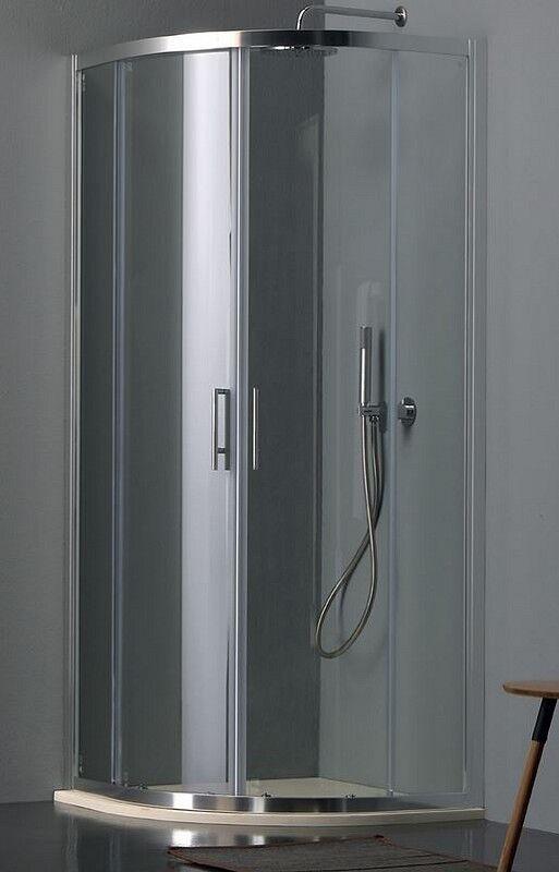Tamanaco Cabine de Douche Eco Semi-Circulaire 80x80 - transparent