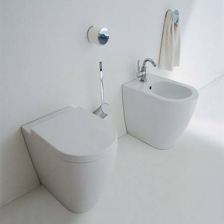 Flaminia Lien de toilette complet avec siège en lait blanc - Siège de selle 5051CW03 à fe