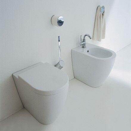 Flaminia Lien de toilette complet avec siège en lait blanc - SANS SIÈGE
